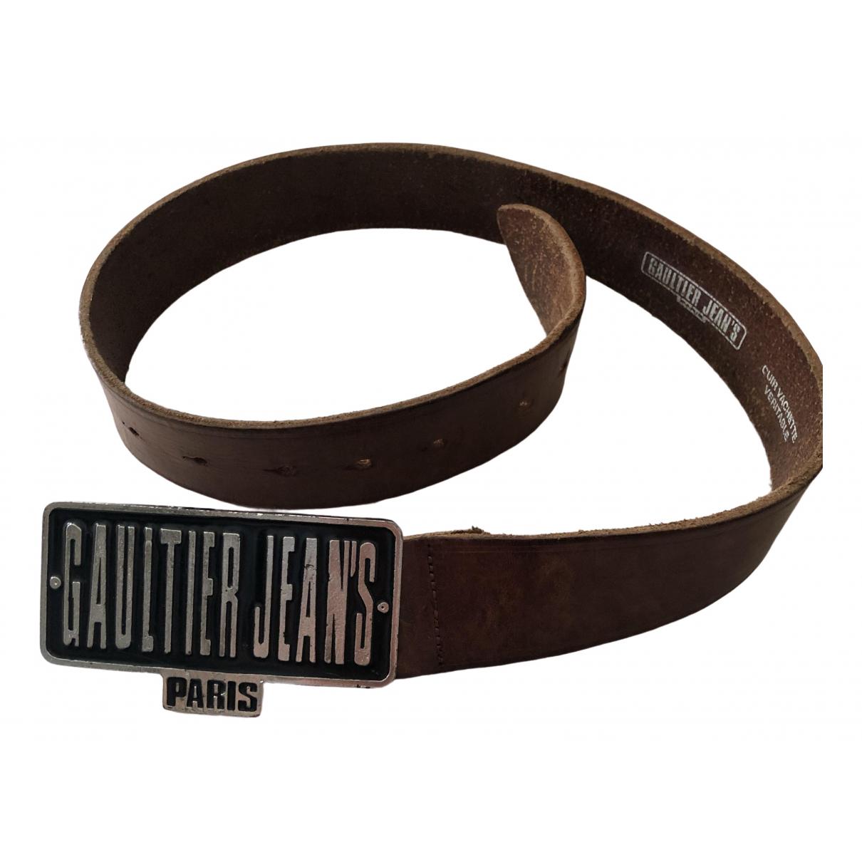 Jean Paul Gaultier \N Guertel in  Braun Leder