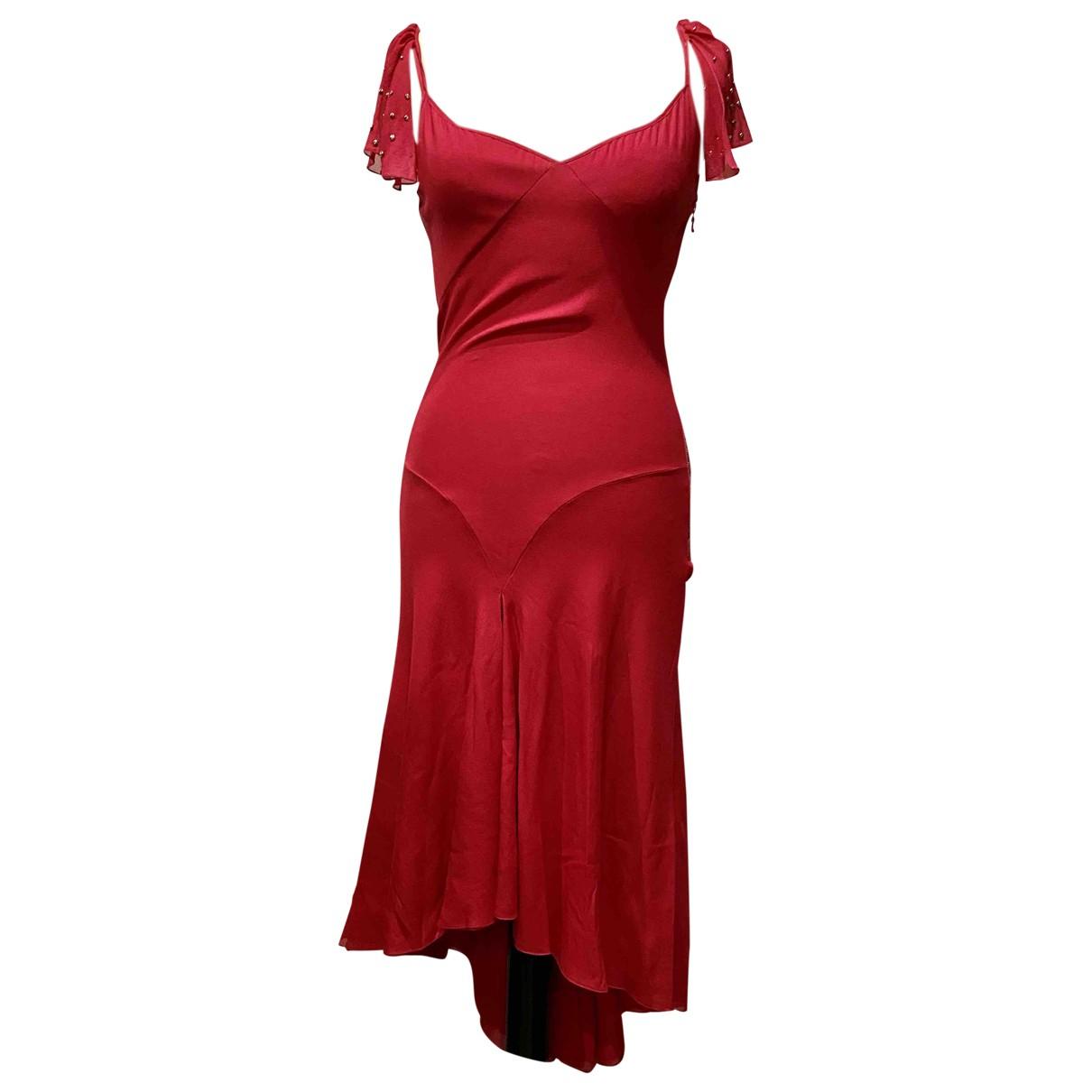 Chloe \N Kleid in  Rot Seide
