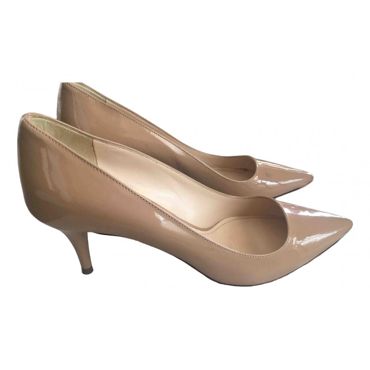 Prada \N Beige Patent leather Heels for Women 36 EU