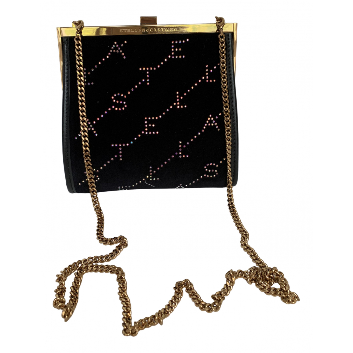 Stella Mccartney \N Clutch in  Schwarz Samt