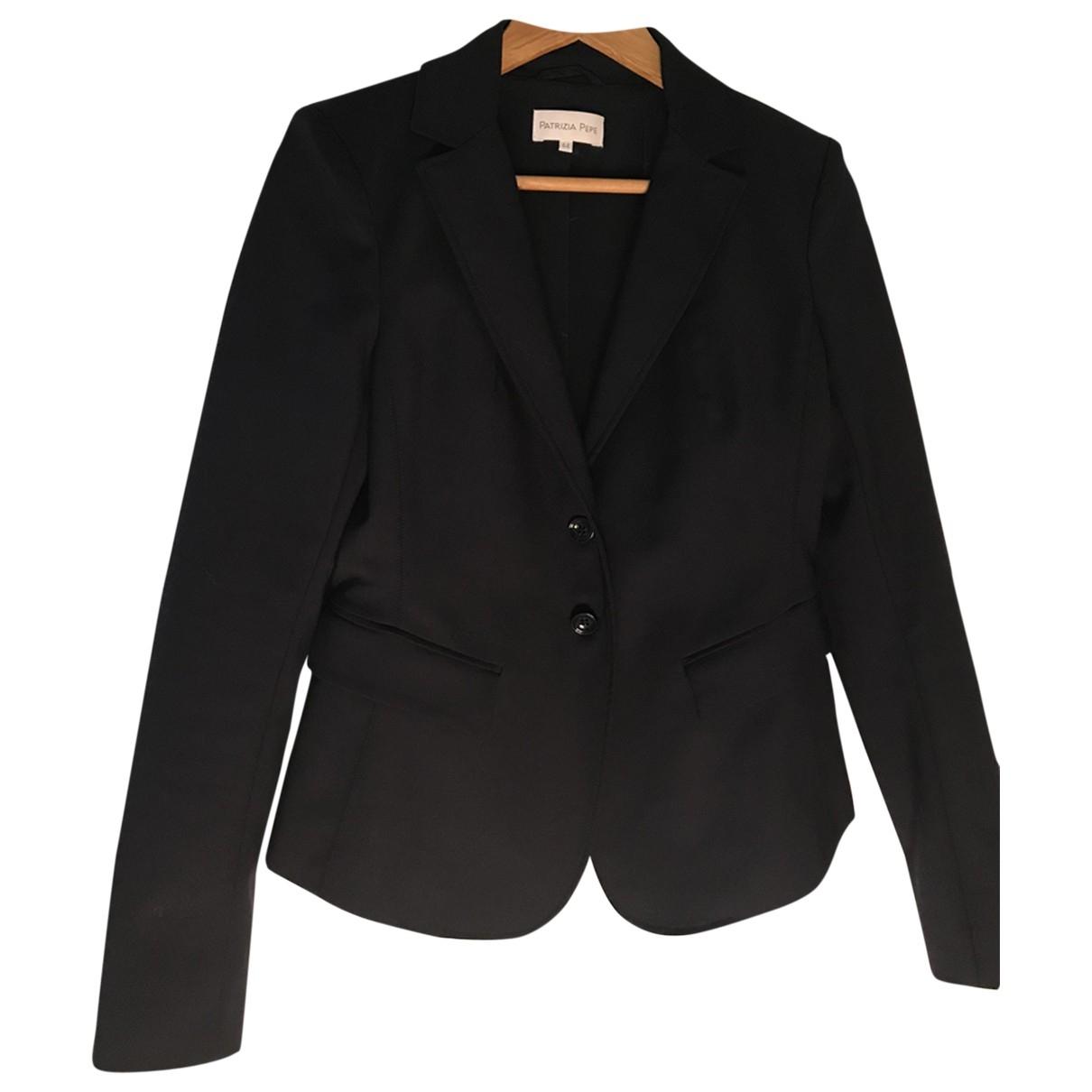 Patrizia Pepe \N Navy Cotton jacket for Women 44 IT