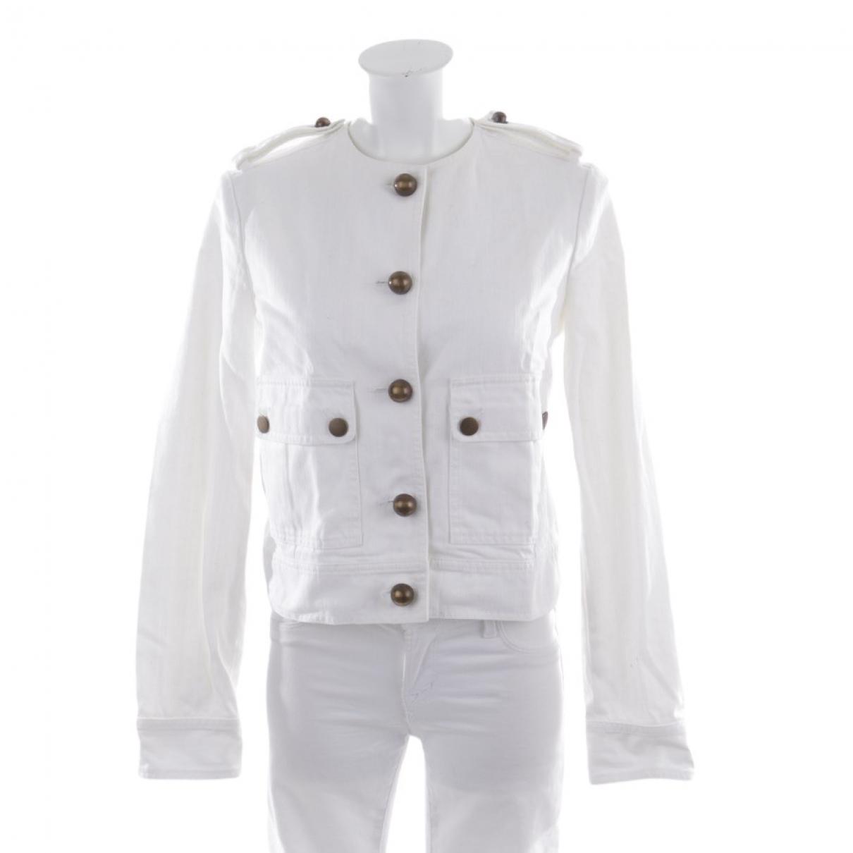 Lanvin \N White Cotton jacket for Women 36 FR