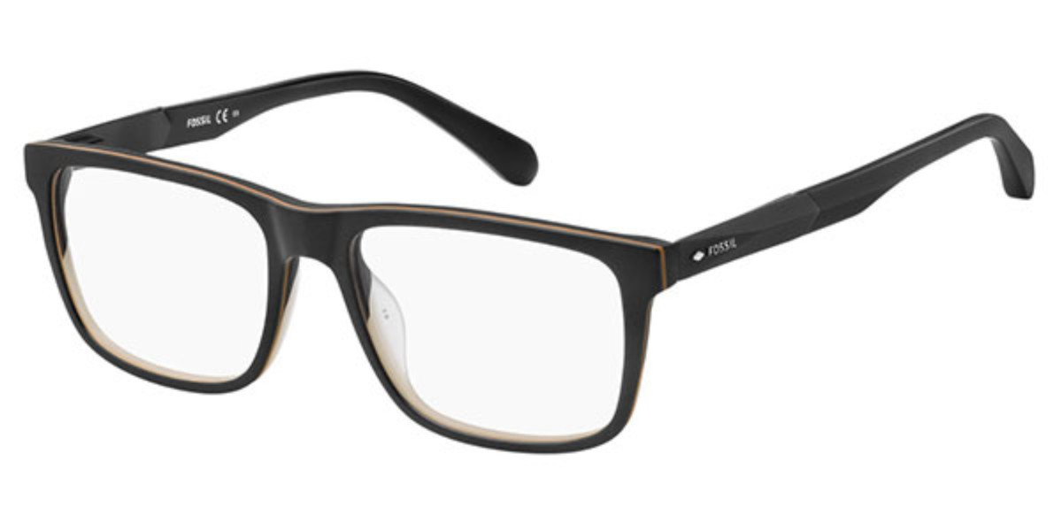 Fossil FOS 7027 003 Men's Glasses Black Size 53 - Free Lenses - HSA/FSA Insurance - Blue Light Block Available