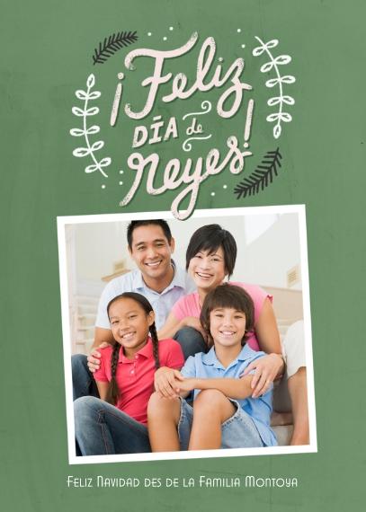 Christmas Photo Cards 5x7 Folded Cards, Standard Cardstock 85lb, Card & Stationery -Feliz Dia de Reyes