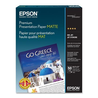 EPSON S041257 50 Sheets Premium Presentation Paper, 8.5