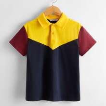 Boys Colorblock Polo Shirt
