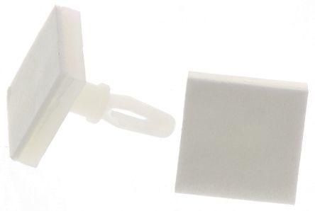 Richco LCBSBM-5-01A2-RT, 7.9mm High Nylon PCB Support for 3.18mm PCB Hole, 12.7 x 12.7mm Base (40)