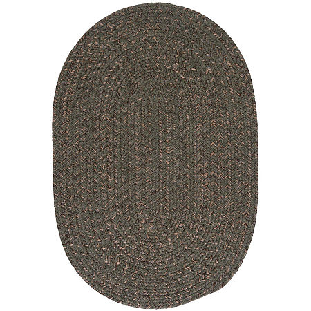 Colonial Mills Grafton Tweed Reversible Braided Oval Rug, One Size , Green