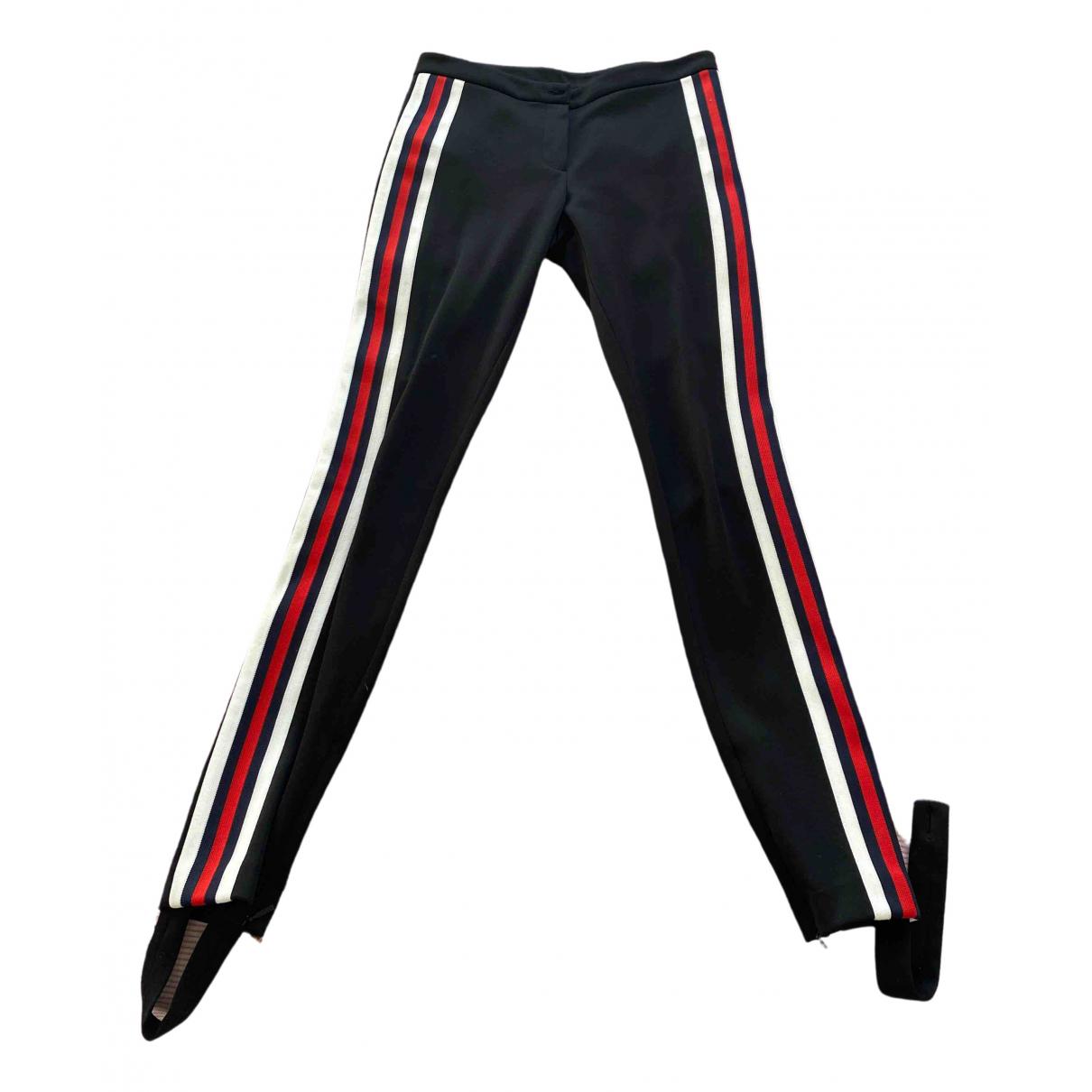 Gucci \N Black Cotton Trousers for Women XS International