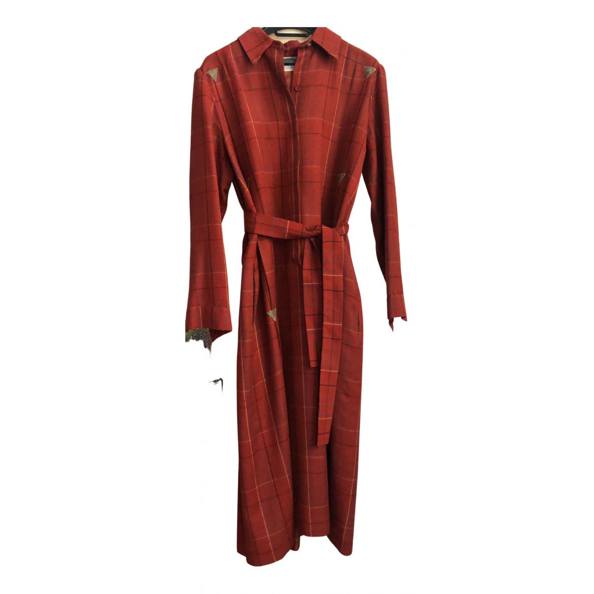 Ted Lapidus \N Kleid in  Braun Wolle