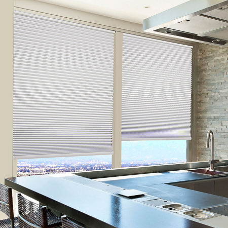 Home Expressions Cut-to-Width Cordless Blackout Cellular Shade, One Size , White