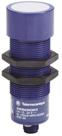 Telemecanique Sensors Ultrasonic Sensor Barrel M30 x 1.5, 50 → 1000 mm, 2x PNP/NPN-NO, M12 - 4 Pin IP67