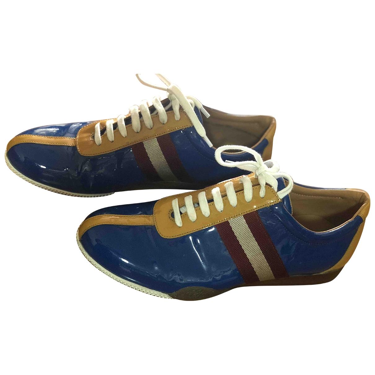 Bally - Baskets   pour homme en cuir verni - bleu