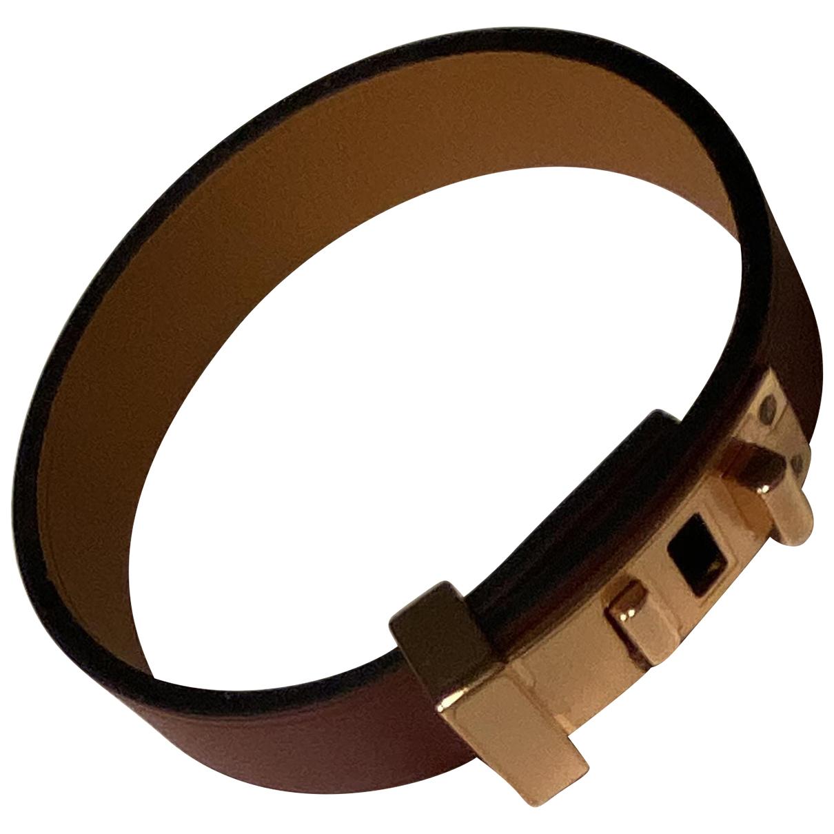Hermès N Burgundy Leather bracelet for Women N