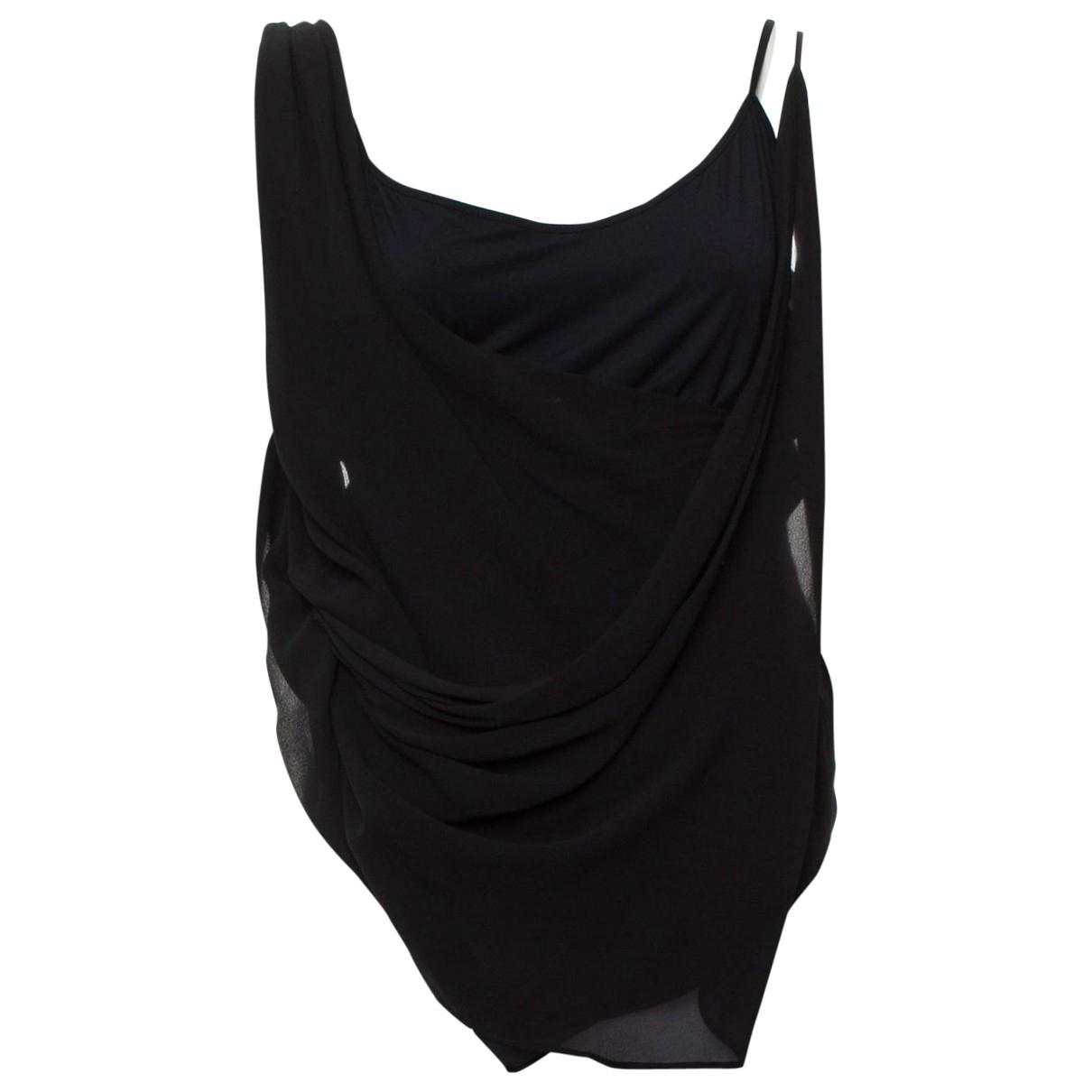 Helmut Lang \N Black Silk  top for Women M International