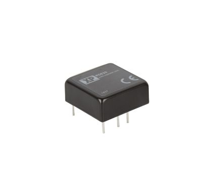 XP Power RDE20 20W Isolated DC-DC Converter Through Hole, Voltage in 13 → 70 V dc, Voltage out ±12V dc Railway
