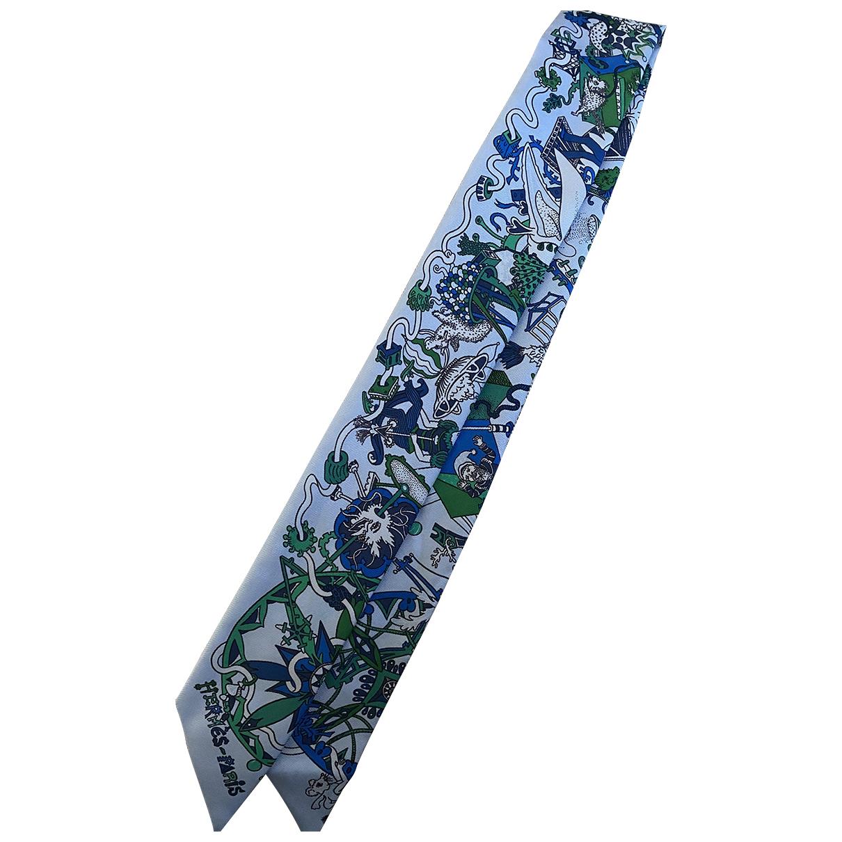 Hermes Twilly 86 Schal in  Blau Seide