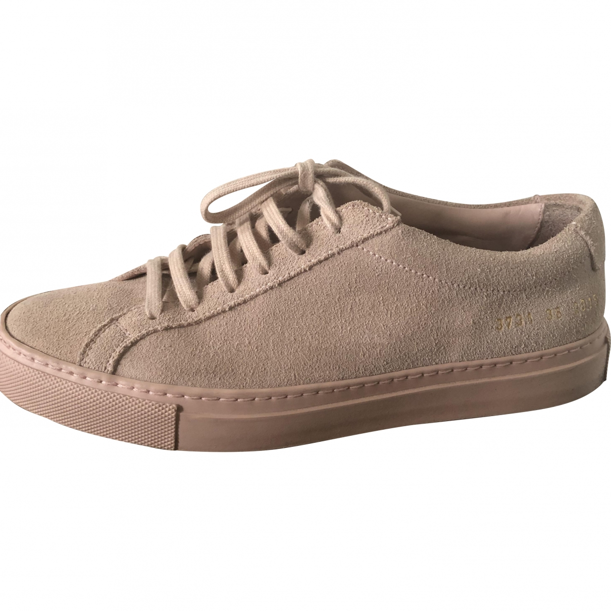 Common Projects \N Pink Leather Trainers for Women 36 EU