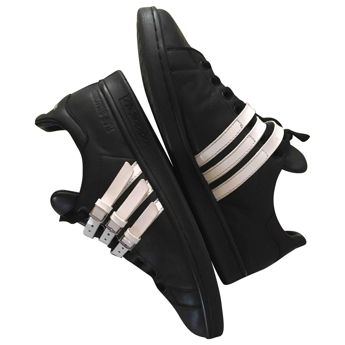 Adidas X Raf Simons - Baskets   pour homme en cuir - noir