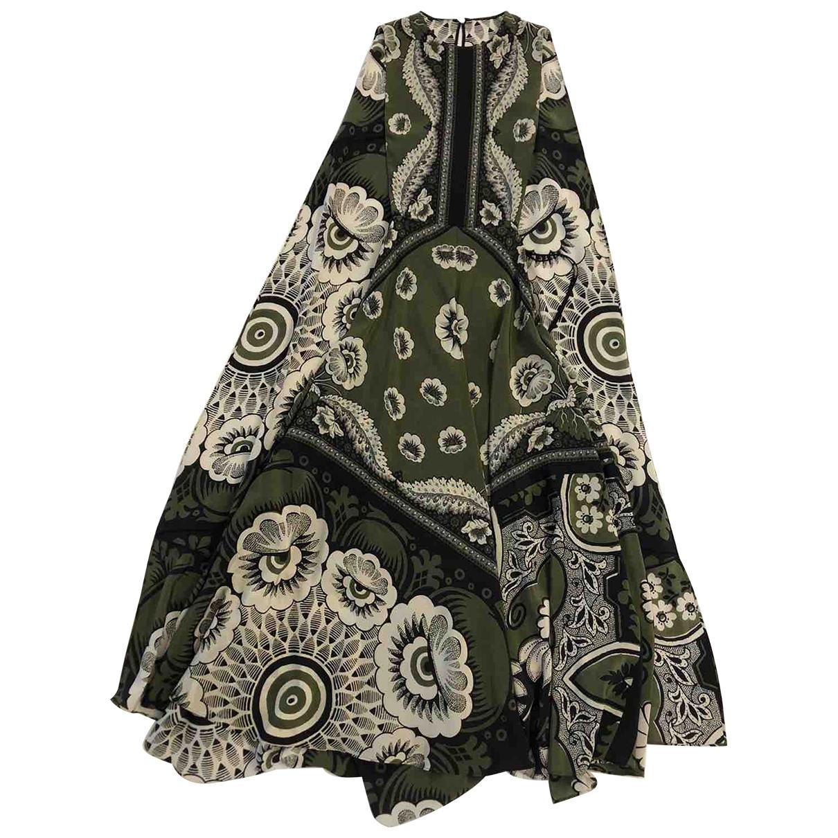 Valentino Garavani \N Green Silk dress for Women 38 IT