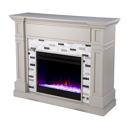 Havsing Color Changing Fireplace, One Size , Gray
