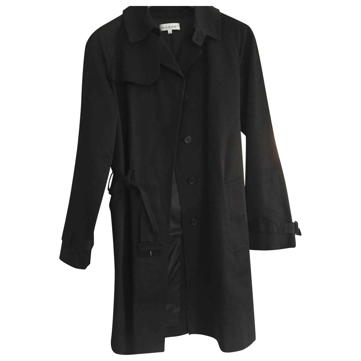 Paul & Joe \N Black Cotton Trench coat for Women 40 IT