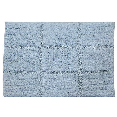 Castle Hill London Chakkar Board Bath Rug Collection, One Size , Blue