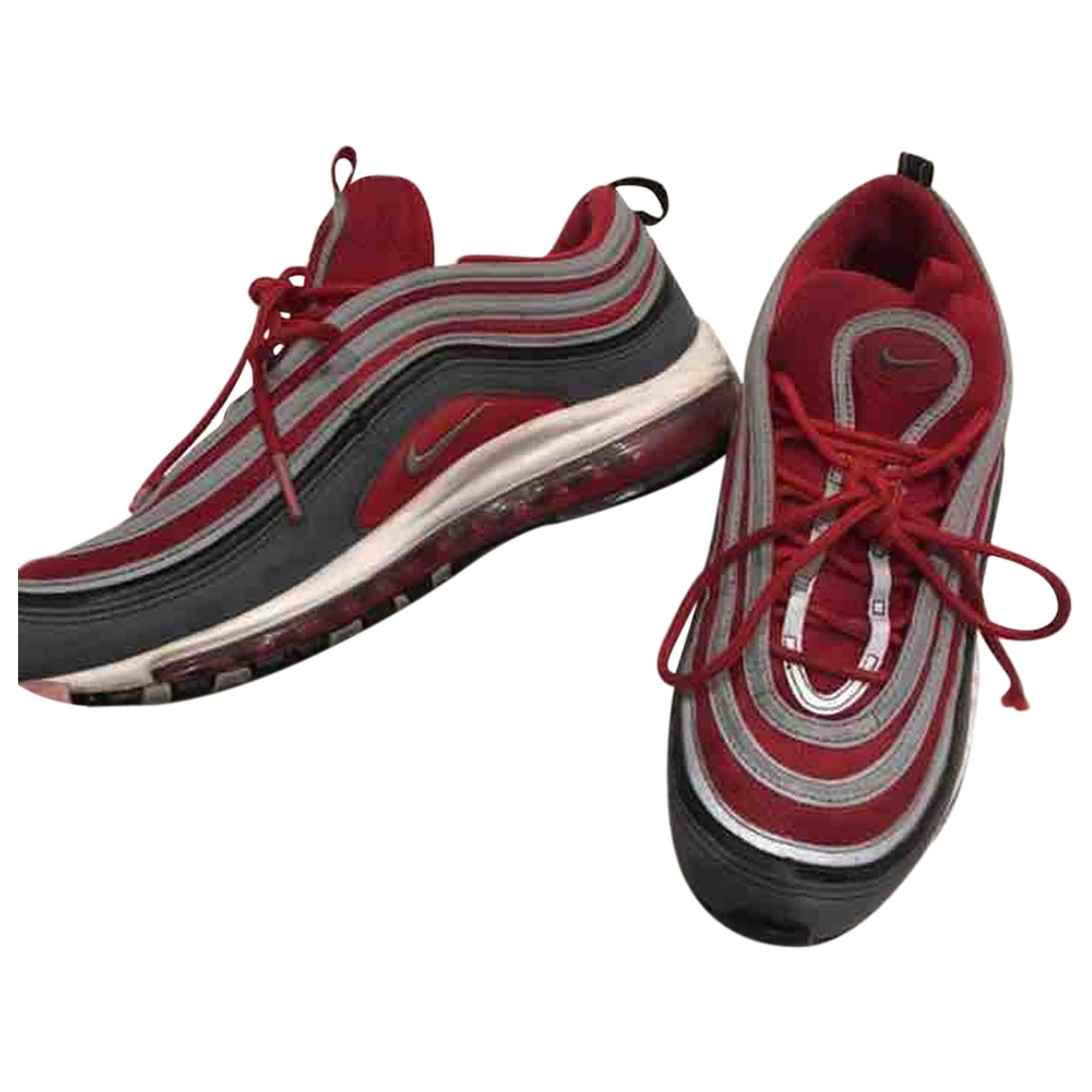 Nike Air Max 97 Sneakers in  Rot Leinen