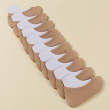 10pairs Plain Invisible Socks