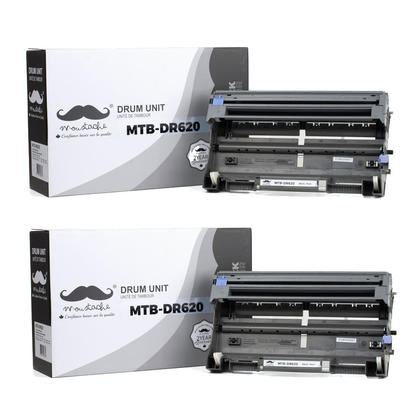 Compatible Brother DR620 Drum Cartridge by Moustache, 2 pack