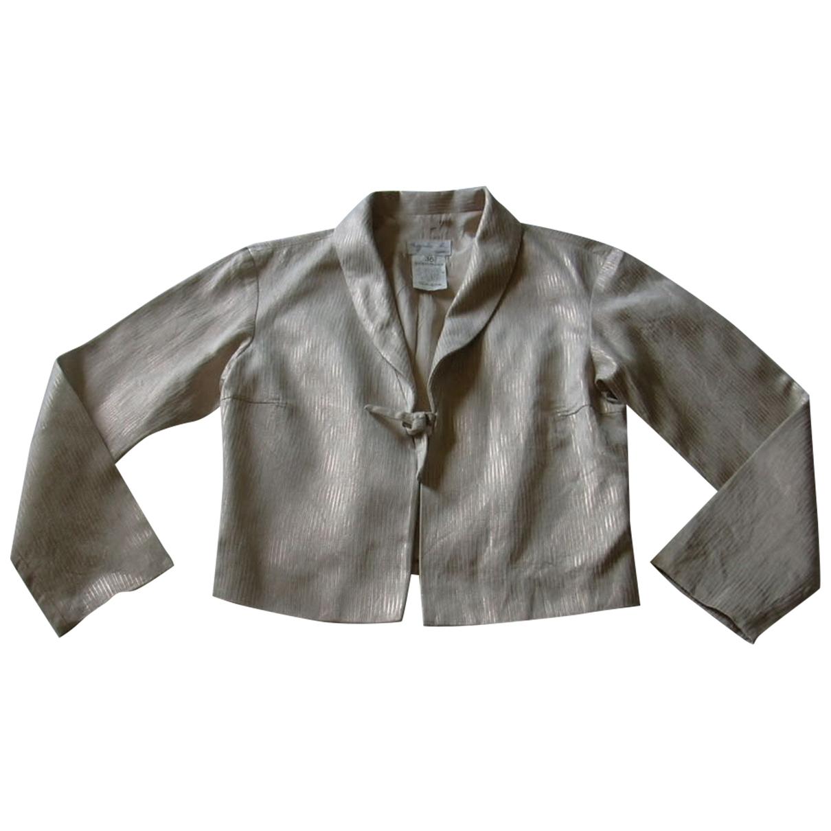 Agnes B. \N Jacke in  Metallic Baumwolle
