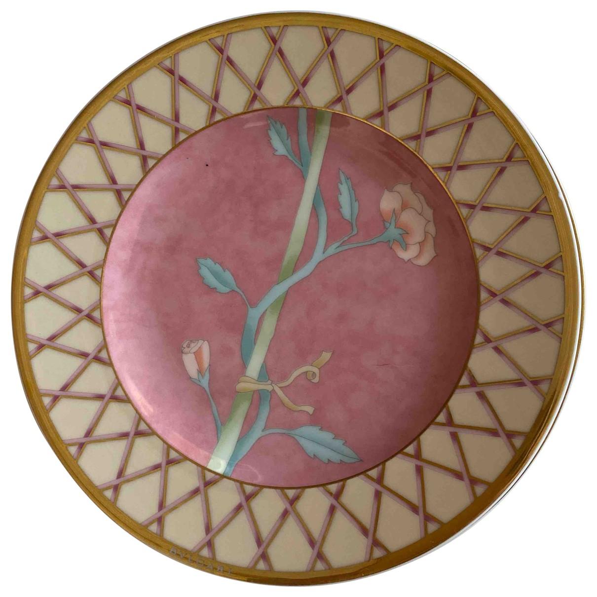 Bvlgari - Arts de la table   pour lifestyle en porcelaine - rose