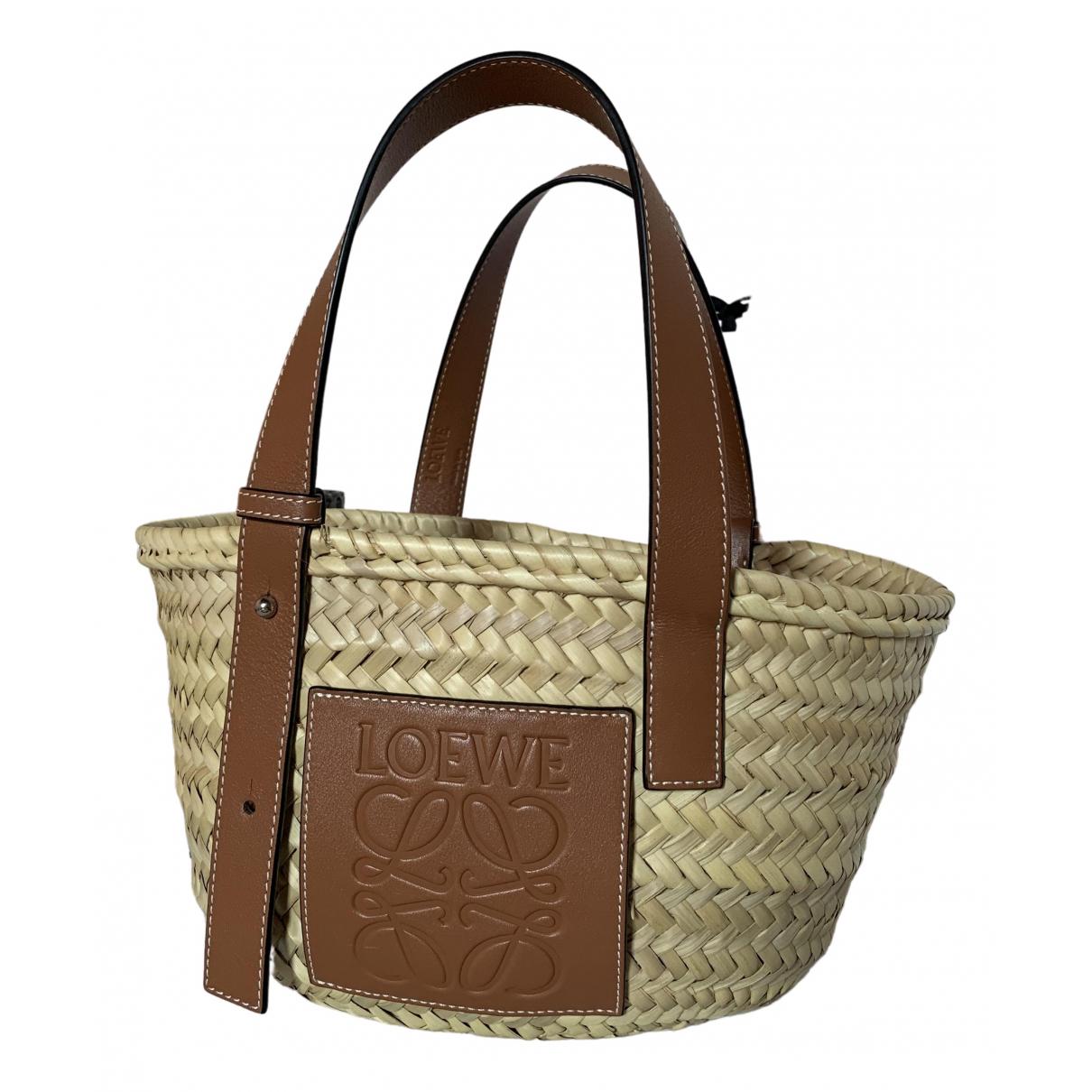 Loewe Basket Bag Brown Wicker handbag for Women \N