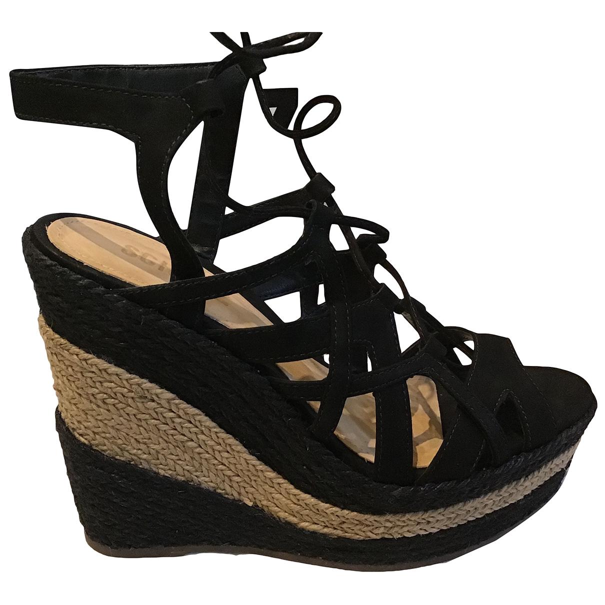 Schutz \N Black Suede Sandals for Women 38 EU