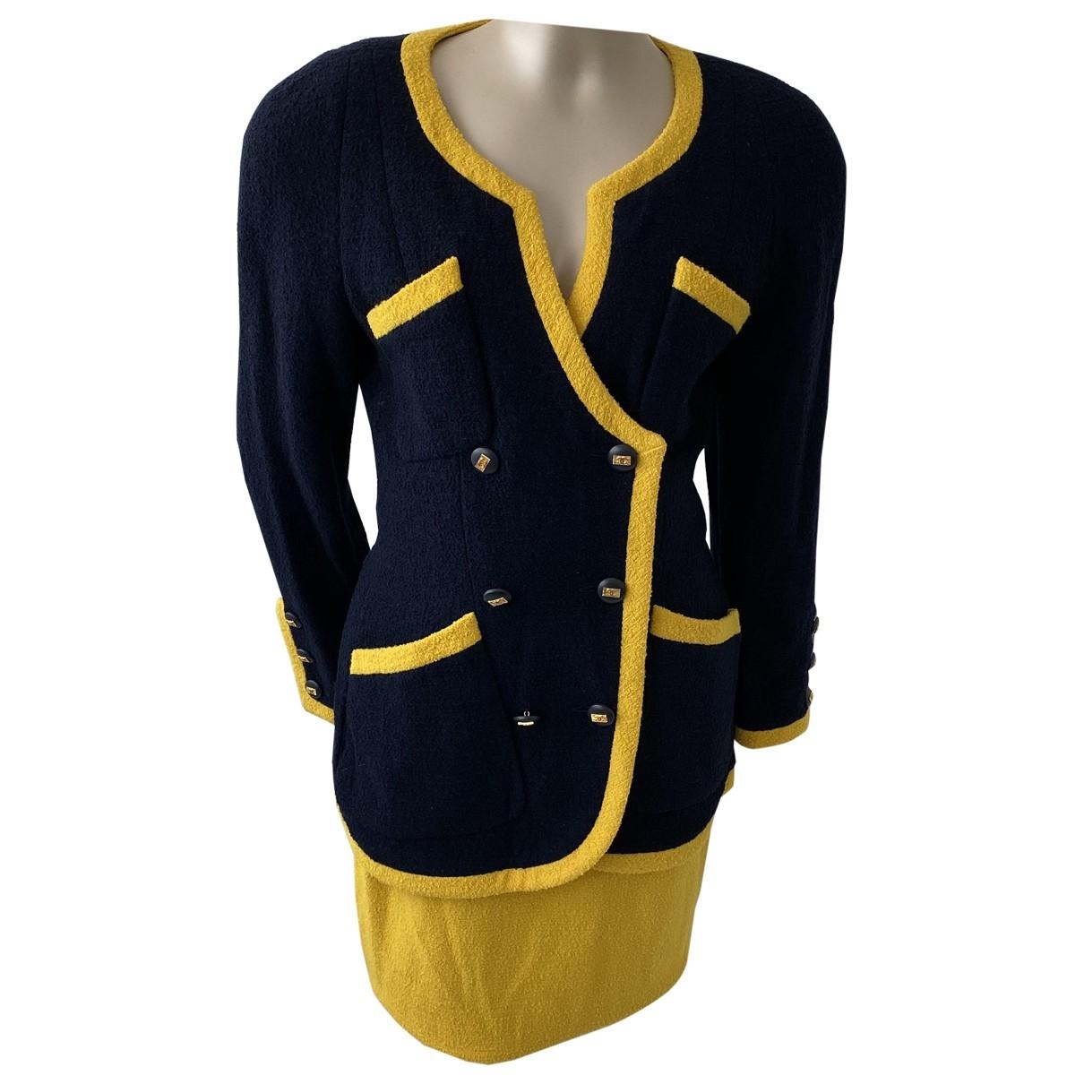 Chanel \N Rocke in  Marine Wolle