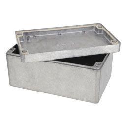 Deltron Unpainted Die Cast Aluminium Enclosure, IP66, IP67, 220 x 120 x 80mm