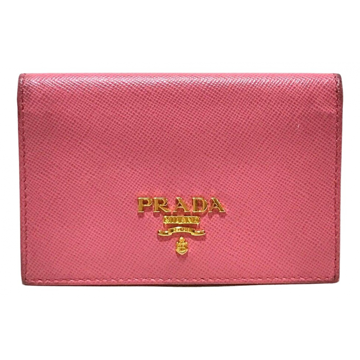Prada - Petite maroquinerie   pour femme en cuir - rose