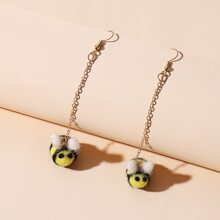 Bee Design Drop Earrings