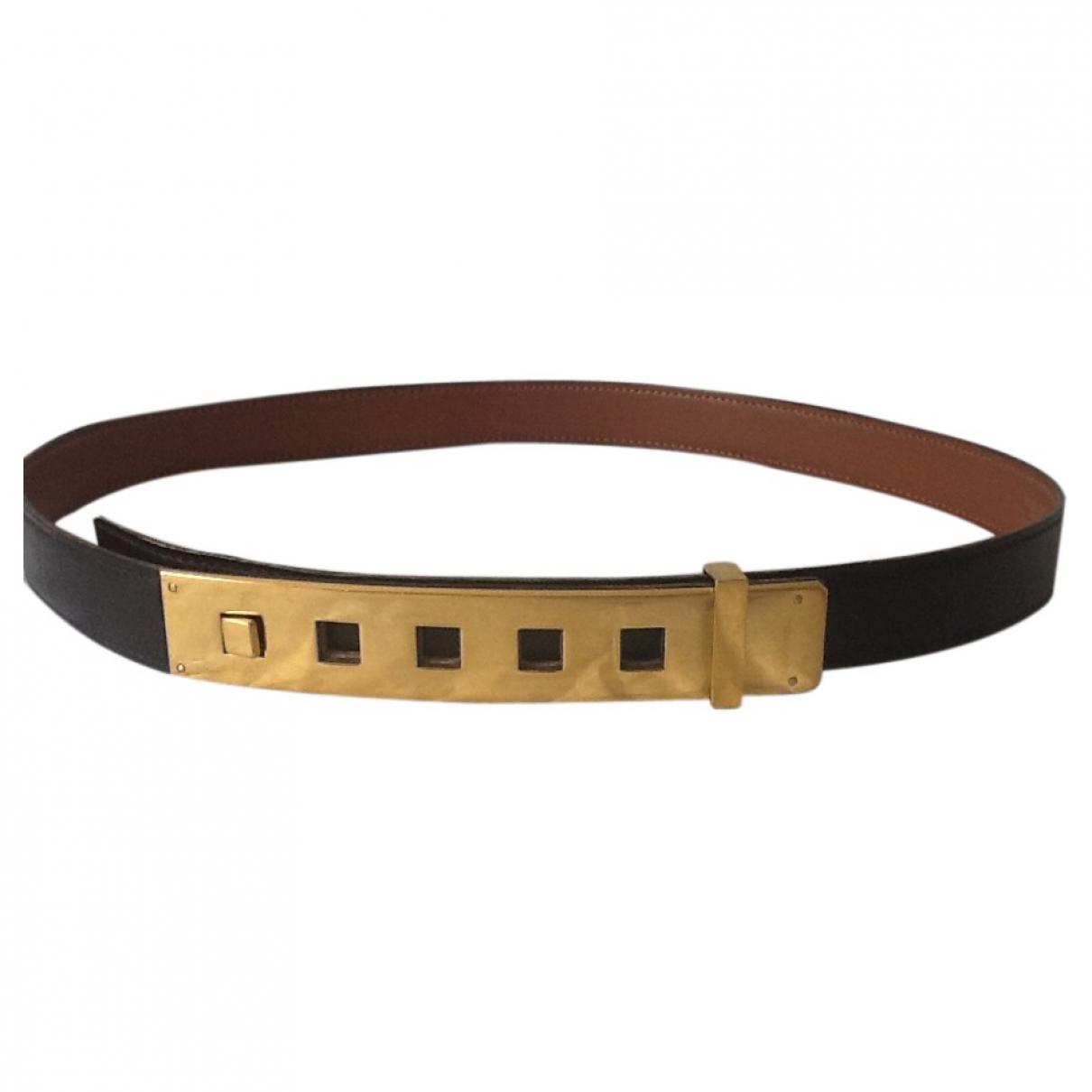 Hermès \N Brown Leather belt for Women 80 cm