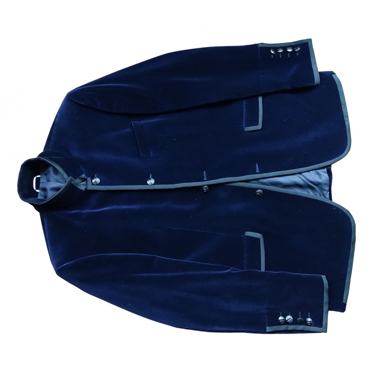 Karl Lagerfeld \N Blue Velvet jacket  for Men 56 IT