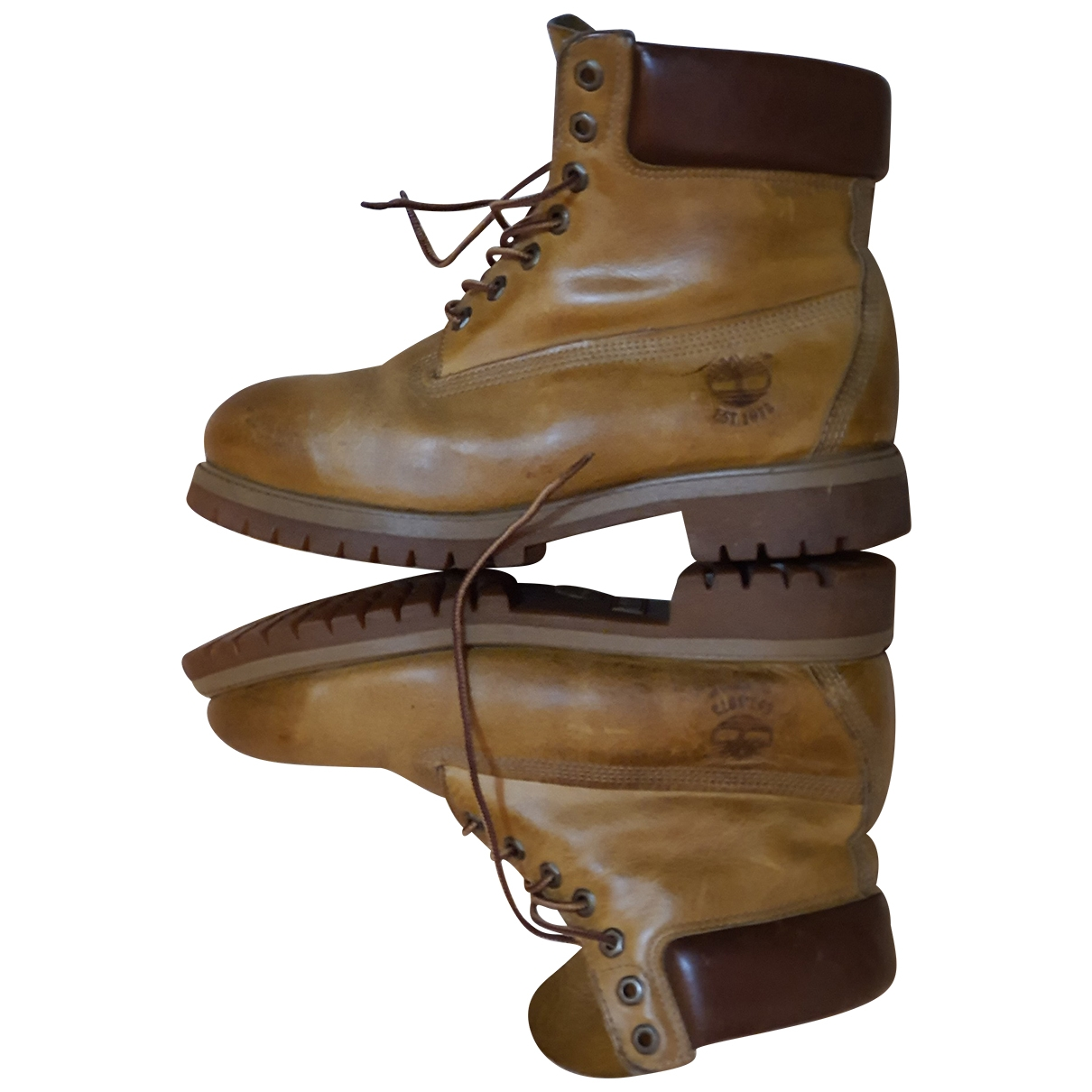 Timberland \N Stiefel in  Kamel Leder