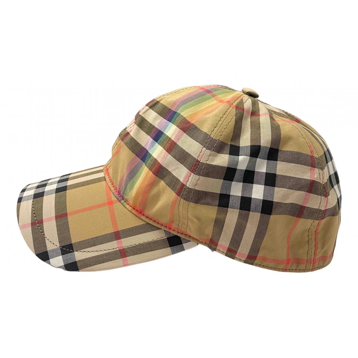 Burberry - Chapeau & Bonnets   pour homme en coton - beige