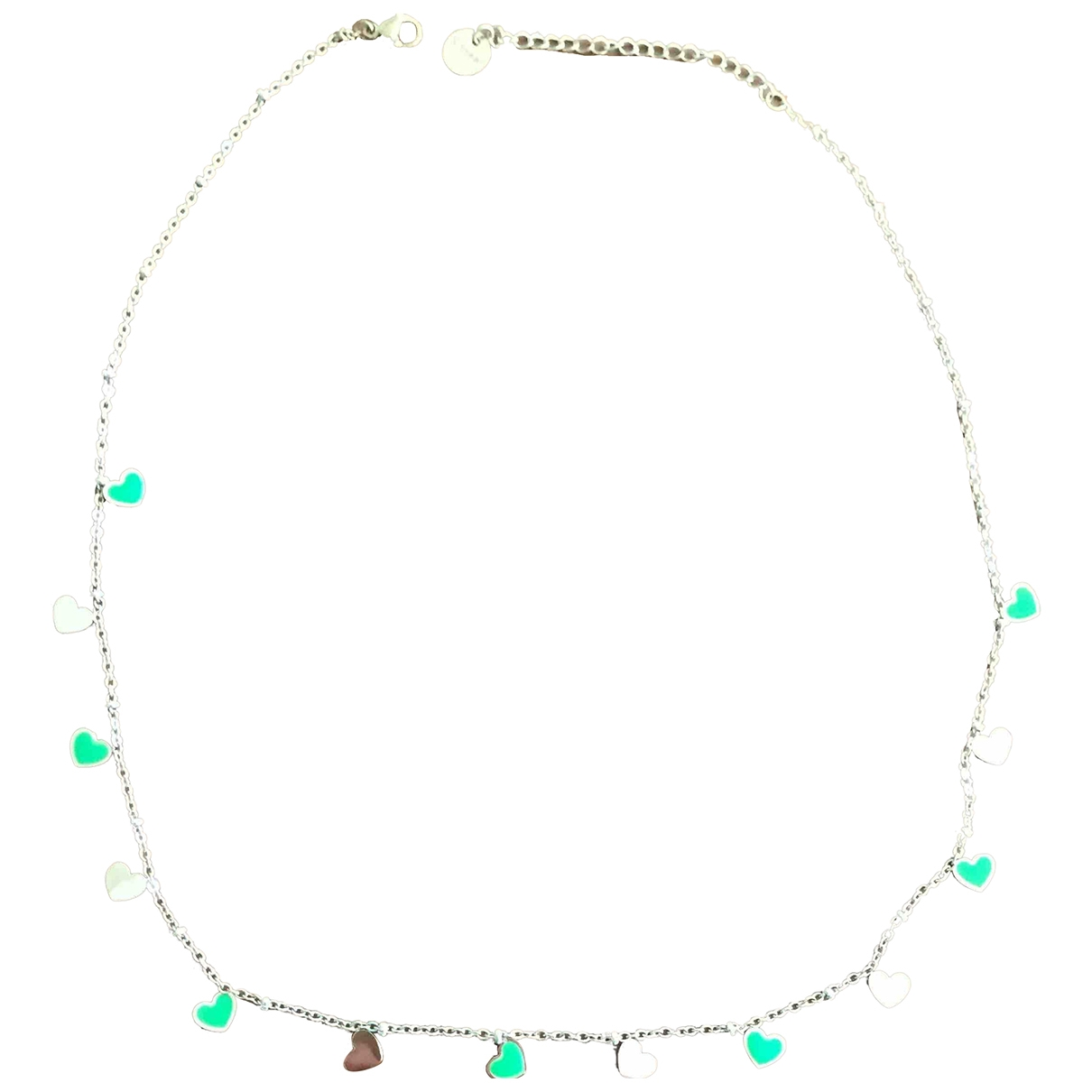 Non Signé / Unsigned Motifs Coeurs Gold Steel necklace for Women \N