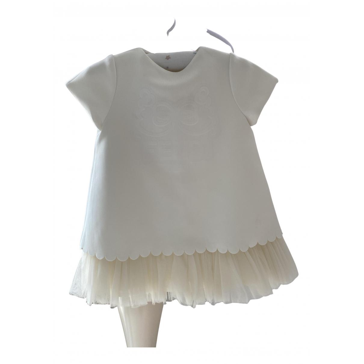 Fendi \N Kleid in  Weiss Polyester
