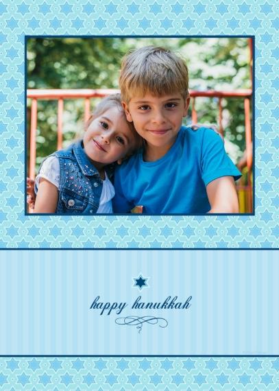 Hanukkah Photo Cards Mail-for-Me Premium 5x7 Folded Card , Card & Stationery -happy hanukkah