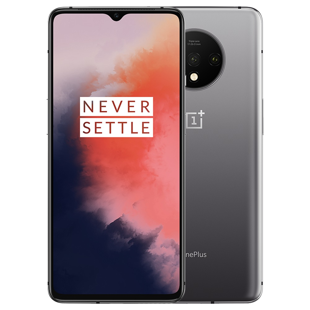 Global ROM OnePlus 7T 6.55 Inch 8GB 256GB Smartphone Frosted Silver