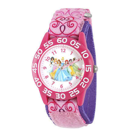 Disney Princess Girls Pink Strap Watch, One Size , No Color Family