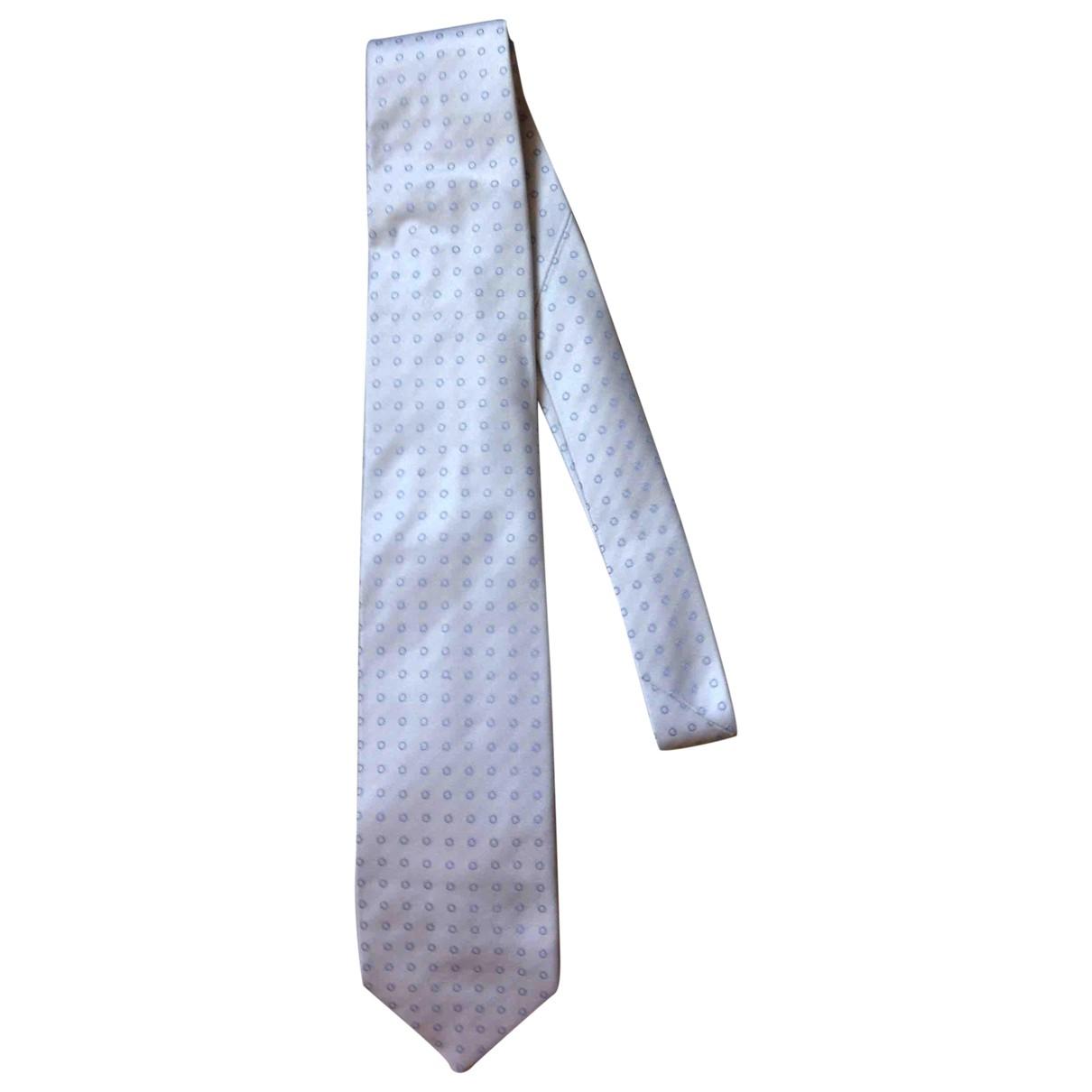 Borrelli \N Krawatten in  Grau Seide