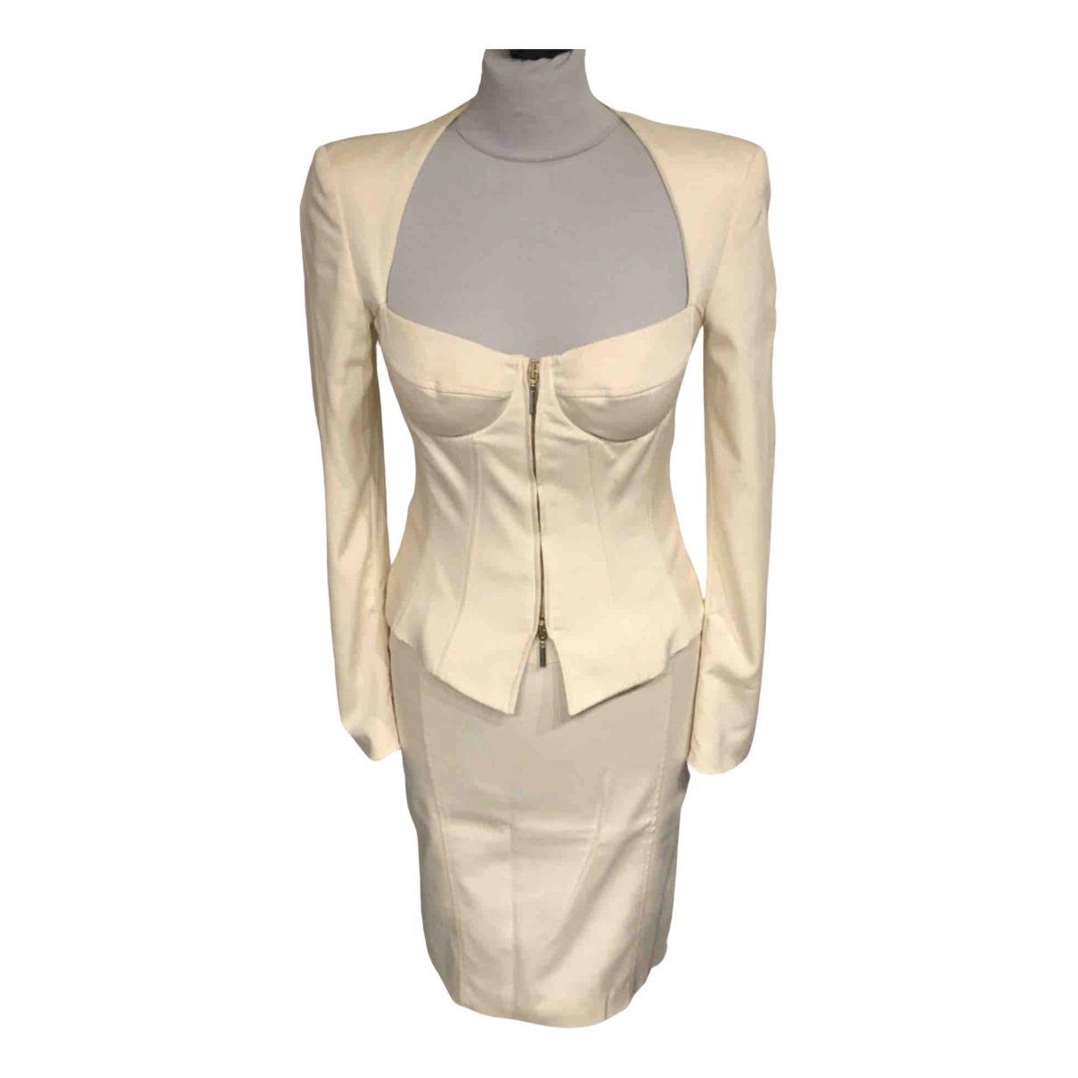 Versace - Veste   pour femme en soie - beige
