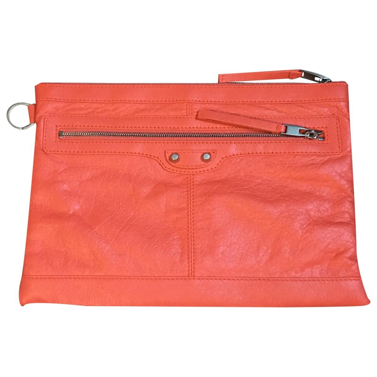Balenciaga City Orange Leather Clutch bag for Women \N